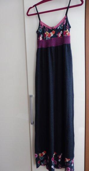Damen Sommer Lang Kleid Spaghettiträger
