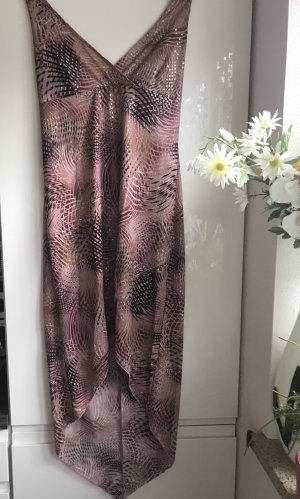 Damen Sommer Neckholder Kleid Rose Violet L