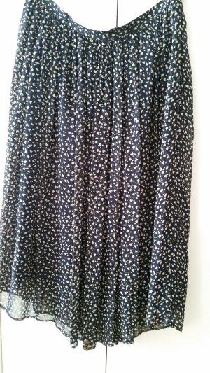 Falda larga crema-azul oscuro