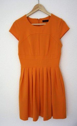 Vestido ceñido de tubo naranja claro-naranja dorado