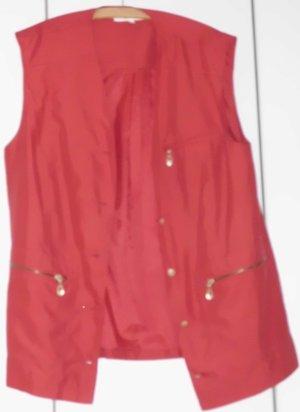 Damen-Sommerweste, Gr. 44, rot, Microfaser, 5 Knöpfe
