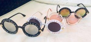 Lunettes de soleil rondes multicolore