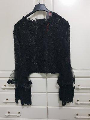 Damen spitzen bluse shirt top kurz