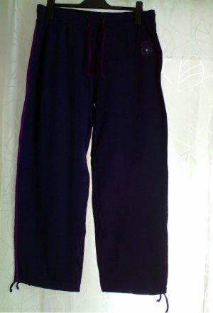 Damen Sporthose Fitnesshose Gr. 46 / 48 Dunkelblau Lila