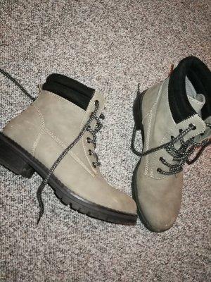 Low boot noir-gris clair