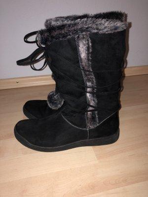 Ariane Fur Boots black