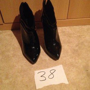 Halfhoge laarzen zwart Imitatie leer