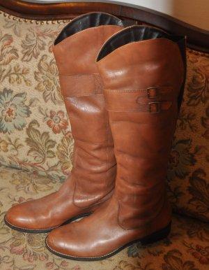 Stretch laarzen bruin Leer