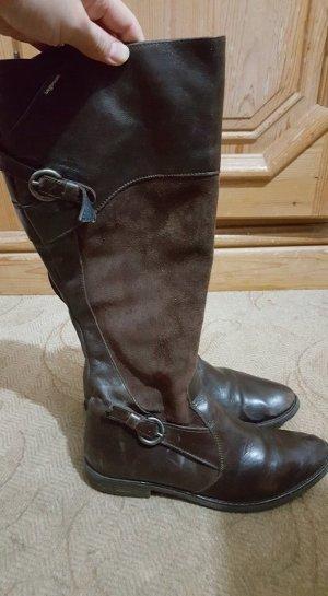 Laarzen met hak brons Leer