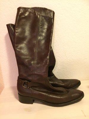 Damen  Stiefel Schuhe Von Peter Kaiser Echtleder Gr. 7 / 40 braun