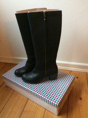 Damen Stiefel * Schwarz mit Reißverschluss * Gr.41