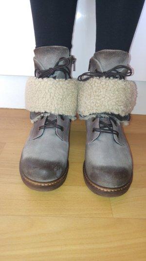 Damen Stiefel von MANAS Gr .40 Winter Boots Warm geFüttert Neu