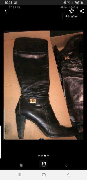Tommy Hilfiger High Heel Boots dark brown