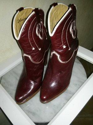 Boots western bordeau