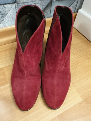 ara Zipper Booties bordeaux