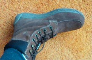 Botines marrón oscuro-marrón Gamuza