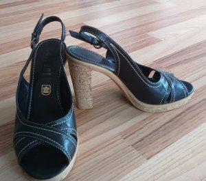 Damen-Stilettos aus Echtleder in Mokkabraun Gr 38 - Perfekt fü den Sommer!