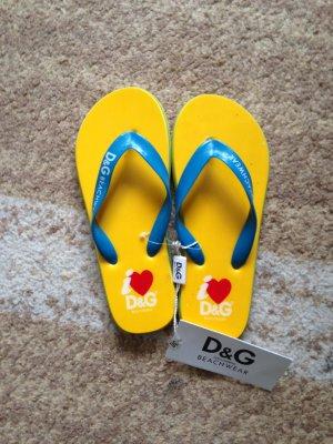 Damen Strandschuhe - Zehentrenner von Dolce&Gabbana / Gr.38 / GANZ NEU!!!