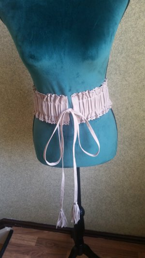 Cintura in tessuto color cammello