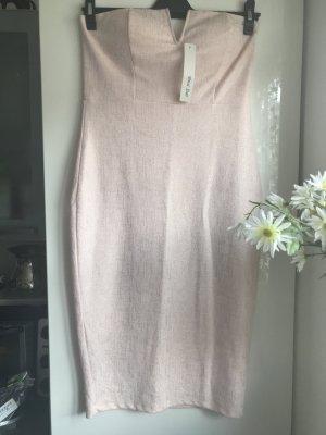 Damen Stretch Kleid Rose Gold glaänzend L Neu mit Etikett