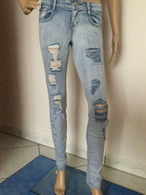 Damen Stretch Ripped Skinny Jeans Sommer Jeans  von Miss One Gr.S