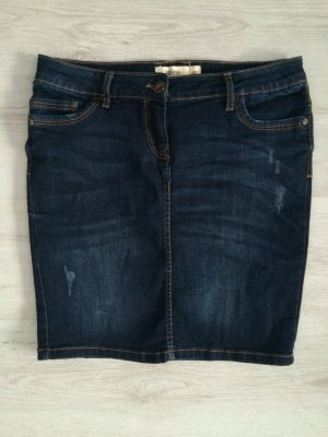 Jupe en jeans bleu-bleu foncé coton