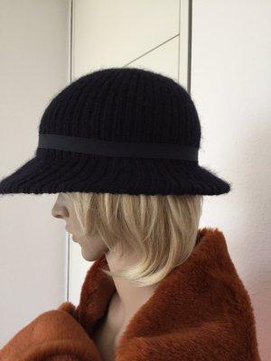Chapeau brun foncé-bleu foncé