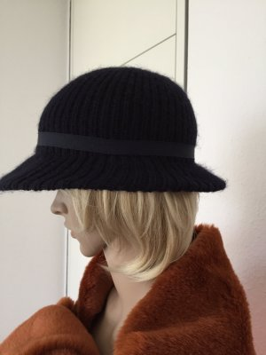 Cappello marrone scuro-blu scuro