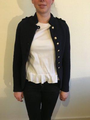 Damen Strickblazer dunkelblau Marine Look goldene Knöpfe M wie neu