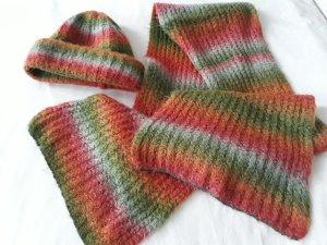 Damen Strickset Schal und Mütze warm