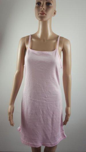 Vestido estilo camisa blanco-rosa claro Algodón