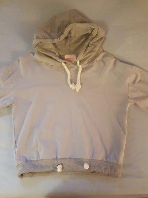 Damen Sweatshirt Hoody Kaputzenpulli S grau/blau