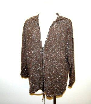 Monari Veste sweat brun-argenté coton