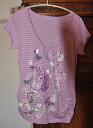 Clockhouse Camisa larga púrpura Algodón