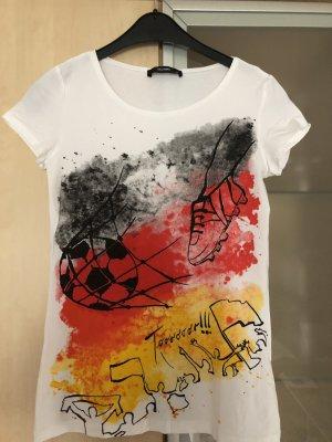 Damen T-Shirt Gr S von Hallhuber Deutschland Fan Shirt Fußball
