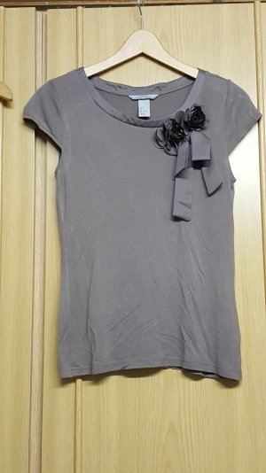 Damen T-Shirt, grau, Blumen