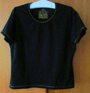 Damen T-Shirt H B Selection Baumwolle/Stretch schwarz/ gold Gr. 46