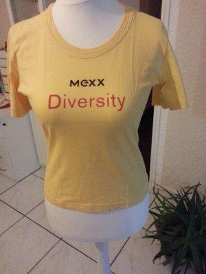Damen T-Shirt in Curry Gelb mit Mexx Werbeaufschrift Größe L