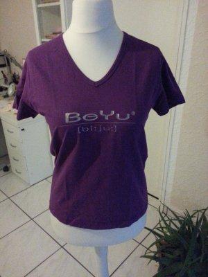 Damen T-Shirt in Lila mit Beyu Aufschrift Größe L