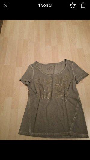 Taifun Camiseta marrón grisáceo-ocre