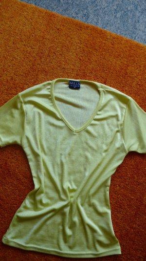Damen T-Shirt Sommer leicht Wunderschöne Bluse Gr.38 in Gelb von MILLS WOMEN NW
