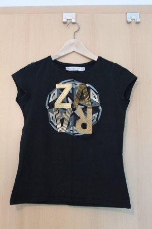 Damen T-Shirt ZARA, mit Glitzer