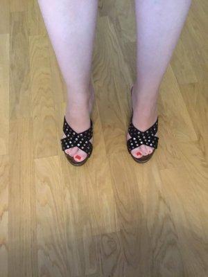 Tamaris High-Heeled Sandals black brown-cognac-coloured