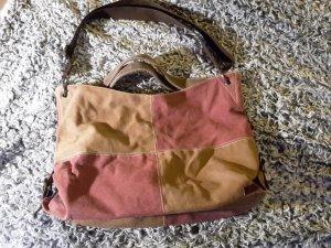 Canvas Bag brown-brick red cotton