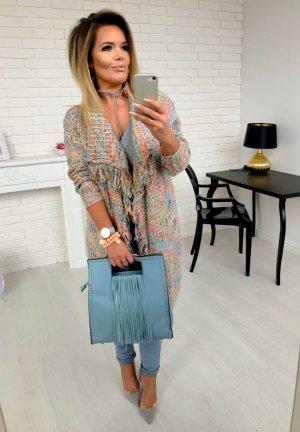 Damen Tasche Handtasche Umhängetasche Shopper Henkeltasche Schultertasche tolles edles Blau und eine Traum Tasche !