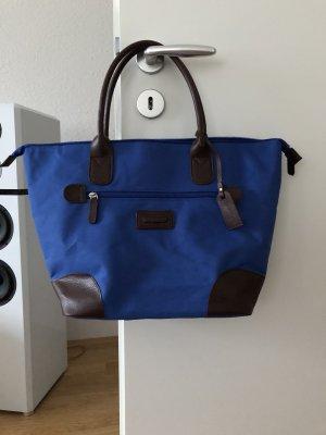 Bolso barrel azul-azul oscuro