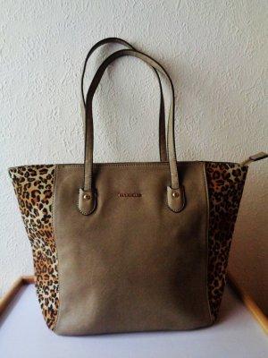 Damen Tasche mit Logo David Jones Leopard Drueck Leo Muenster NEU