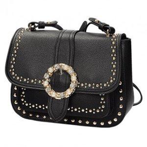 Damen Tasche NEU  ✔ Handtasche Nieten Umhängetasche BLING BLING Strass Schmuck Shopper Henkeltasche Blogger Abendtasche