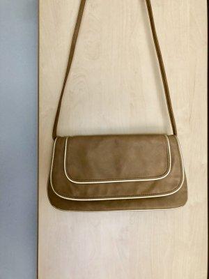 Damen Tasche Umhängetasche H&M Braun Gold wie Neu