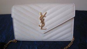 Damen Tasche von Saint Laurent, cremeweiß